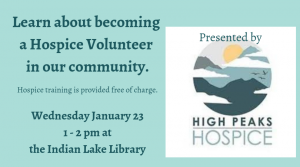 Hospice Volunteer Informational Talk @ Town of Indian Lake Public Library