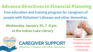 Advance Directives in Financial Planning @ Town of Indian Lake Public Library