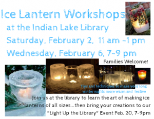 Ice Lantern Making Workshop @ Indian Lake Library