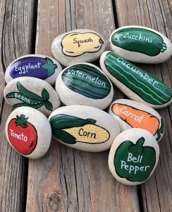 Painted Rock Garden Markers! @ Indian Lake Public Library