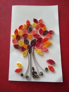 Quilled Paper Autumn Tree @ online
