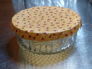 Beeswax Fabric Bowl Covers @ Indian Lake Library