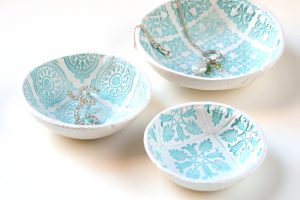 Clay Stamped Bowls @ online with Indian Lake Library