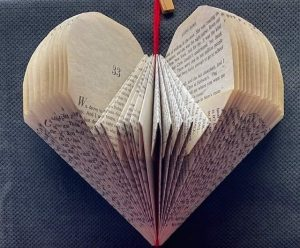 Folded Book Art Valentine