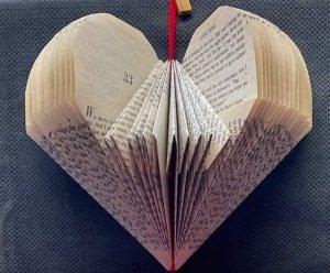 Folded Book Art Valentine