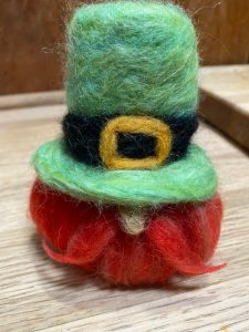 Needle Felted Leprechaun @ Indian Lake Library online